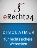 eRecht24 – Disclaimer– für rechtssichere Webseiten